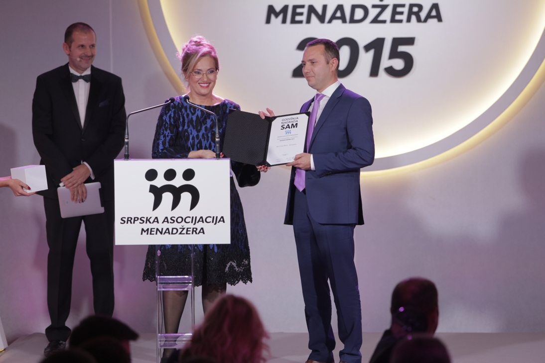 Serbian Association of Managers awarded MK Fintel Wind