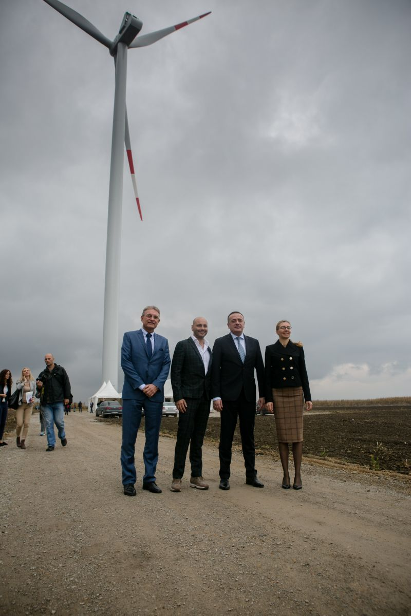 The second wind farm is being built and the third one is announced
